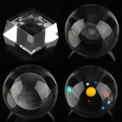 """Clear Glass Crystal Ball Healing Sphere Photography Props Lensball Decor Gift 3"""""""