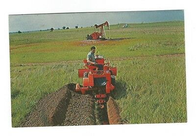 Postcard Advertising Chrome Ditch Witch Trenching Tool Perry, Ok. 1961