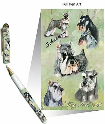 New Schnauzer Pet Dog Designer Pen in Gift Box by Ruth Maystead Schnauzers