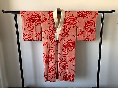 Japanese Vintage Shibori Silk Kimono Jacket Costume Hand Made in Japan Old Kyoto