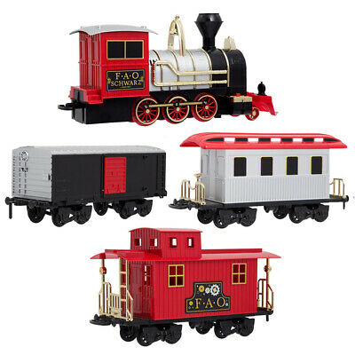 NEW FAO Schwarz Classic Motorized Train Set 30pce