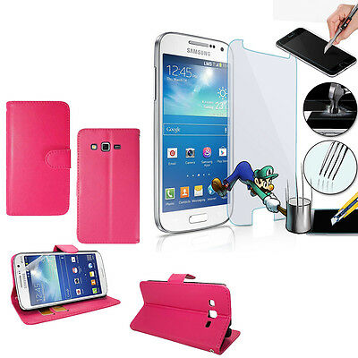 Protective Sleeve for Samsung Galaxy Grand 2 sm-g7100 Briefcase + Safety Glass