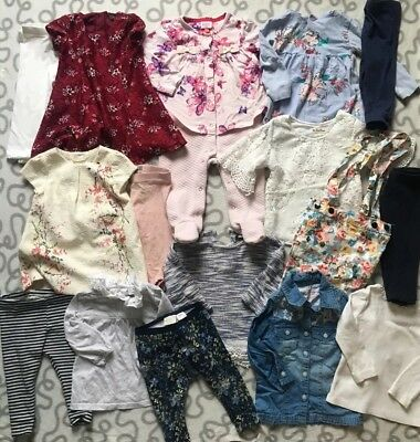 Baby Girls 6-9 Months Long Sleeve Winter Clothes Bundle Ted Baker Next