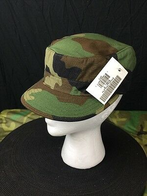 Us Military Army Bdu Cap Hat Woodland Camouflage New Size 7-1/8  8415013937820