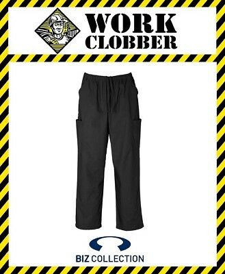 Biz Collection Classic Unisex Cargo Scrub Pants Black H10610 NEW WITH TAGS!