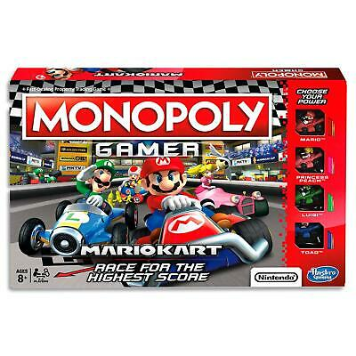Monopoly Gamer - Mario Kart Nintendo Characters - Kids Board Game Toys - Ages 8+