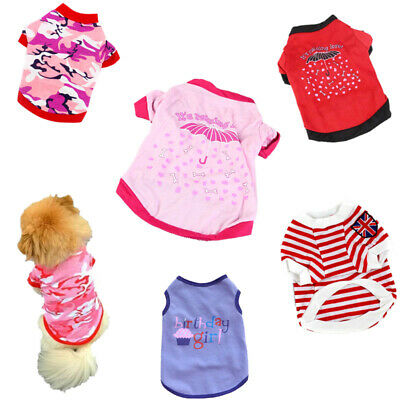 Small Pet Dog Puppy Vest T-shirt Various Style Summer Outfit Cute Shirt Clothes