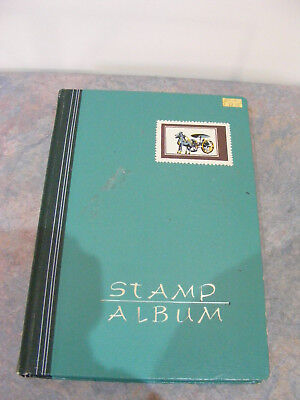 Small Vintage 18 Page Stamp Album - 26cm x 18cm - Used