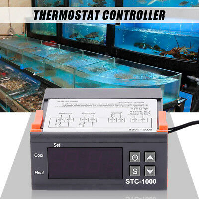 NEW 12V/24V/110V/220V STC-1000 Digital Temperature Controller Thermostat w/NTC