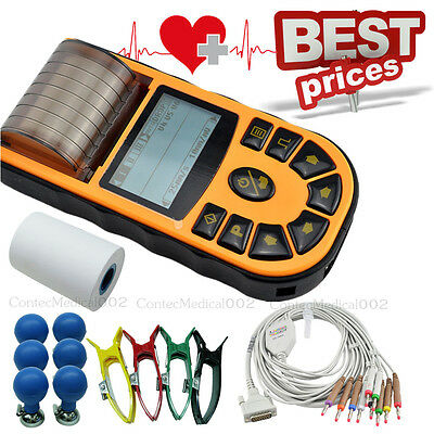 Digital ECG Machine, USB  Electrocardiograph 12 Lead 1 Channel, Printer,Software