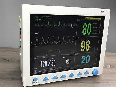 Portable Vital Signs Patient Monitor 7-Parameters Hospital ICU CCU Monitor USA