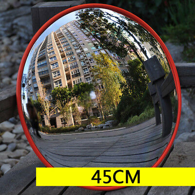 "45cm/18"" Outdoor Traffic Convex PC Mirror Wide Angle Driveway Safety Securit NEW"