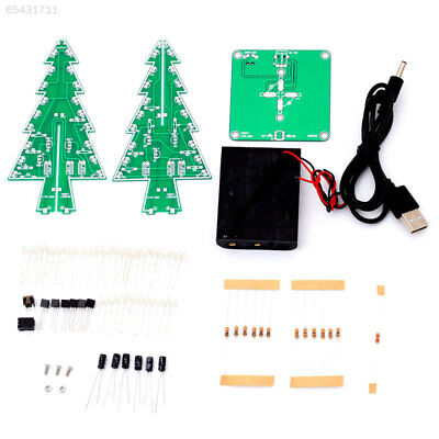 06FC 7 Colors 3D Christmas Tree LED DIY Kit Electronic Fun Suite Christmas Gift