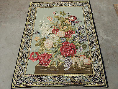 Large Antique French Flowers Tapestry 176X138cm (A348)