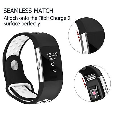 Wrist Strap Watch Band Silicone Replacement Wristband Small For Fitbit Charge 2