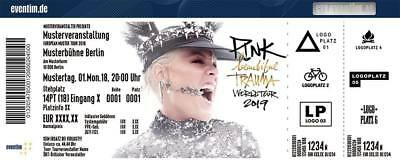 2x Tickets Karten Pink P!nk in Köln Stadion - 05.07.2019 - FOS Front of Stage 1