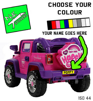 KIDS CHILDREN NUMBER PLATE STICKERS for Jeep Wrangler Style 12v Ride on Car