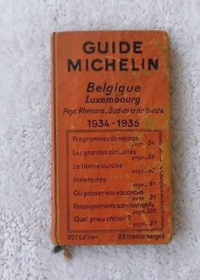 ancien guide MICHELIN an 1935/1936 BELGIQUE LUXEMBOURG pays rhénans sud hollande