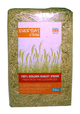 3 X Everyday 100% Golden Barley Straw 2.5kg DAMAGED PACKAGING