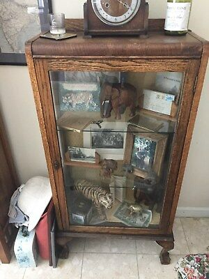Antique Queen Anne Style Display Cabinet