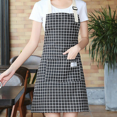 Fashion Lady Women Men Adjustable Cotton Linen High-grade Kitchen Apron 70*75cm