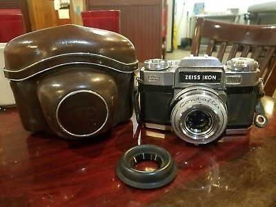 Zeiss Ikon Contaflex S Matic 35mm Camera Tessar 50mm 2.8 with Case