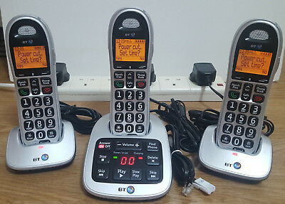 BT Big Button 4600 1.8 Inch Telephone with Answer Machine - Triple