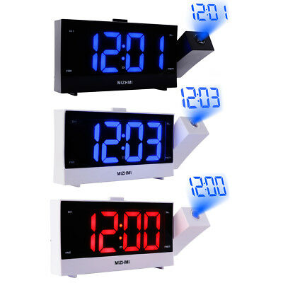 LED Digital Alarm Clock Bedside Mains Powered with USB Snooze Function Bedroom