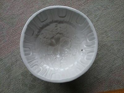 Antique  C1900 Mintons small Jelly Mould  Nuts leaves Jello Minton