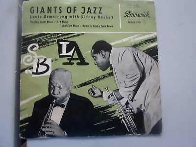 Louis Armstring with Sidney Bechet / Giants of Jazz / EP / 1956 /