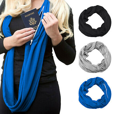 Infinity Scarf with Hidden Zipper Pocket | Travel Secure | Multiuse Scarf ISASSY