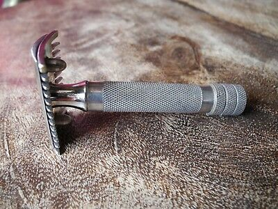 Leresche No51 Deluxe Open Comb safety Razor  Made in France 1930s