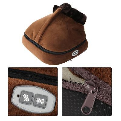 2 IN 1 Unisex Electric Heated Feet Comfort Comfy Relaxing Foot Massager Warmer
