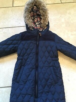 Next Baby Boys Toddler Navy Blue Quilted Snowsuit All In One Age 18-24 Months