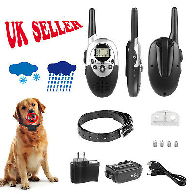 Anti-Bark Electric Shock E-Collar Training Remote Control Rechargeable For 1 Dog