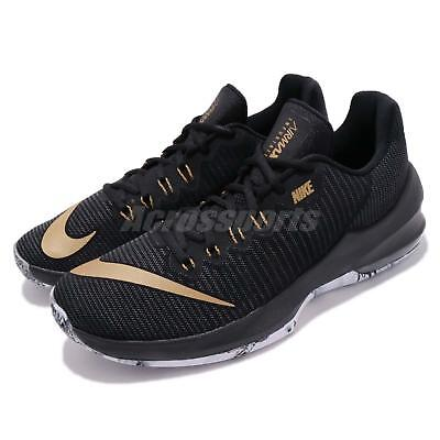 meet efb15 a8afc Nike Air Max Infuriate 2 Low II Black Metallic Gold Men Basketball 908975- 090