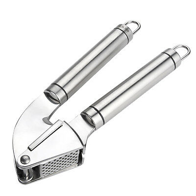 Professional Kitchen Garlic Press Stainless Steel Crusher Slicer Deluxe Heavy