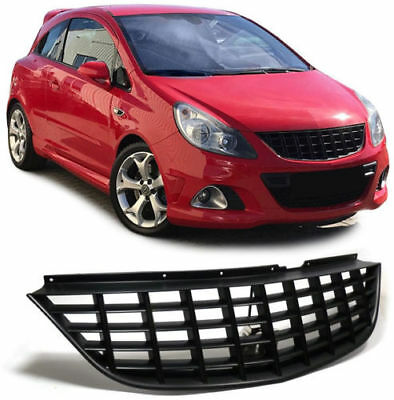 For Opel / Vauxhall Corsa D BLACK Front grill OPC badgeless debadged sport GSI