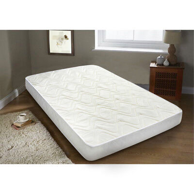 Memory Foam Quilted Fabric Mattress 2ft6, Single 3ft, 4ft Double Size Matress