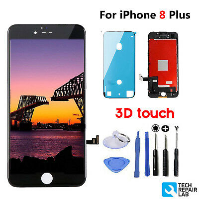 For iPhone 8 Plus LCD Digitizer Screen Replacement Black Genuine IC OEM 3D Touch