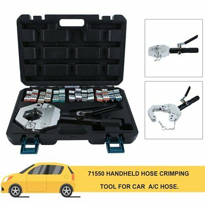 New 71500 A/C Hose Crimper Tool Kit Manual Hydraulic Crimper Portable Crimping