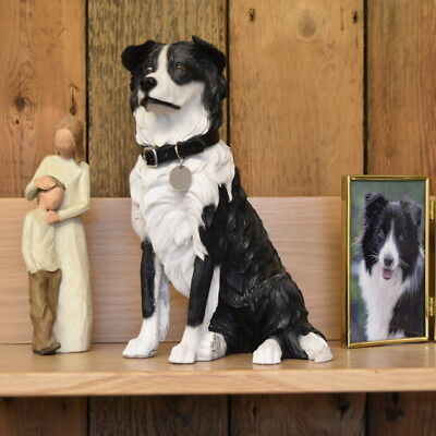 Border Collie Dog  Urn pet memorial casket will hold the ashes of your dog