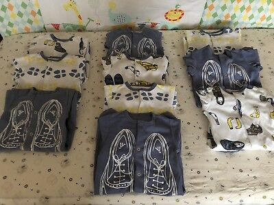 10 Pieces Of Mamas And Papas Babygrows Sleepsuits Bundle 0-3 Months