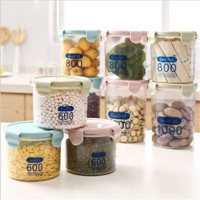 Canister For Kitchen Glass Food Storage Containers With Airtight Lids Tool N7