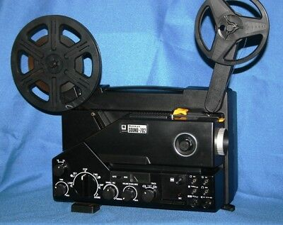 SUPER 8 SOUND MOVIE PROJECTOR, SANKYO 702  150w LAMP  2 TRACK SOUND SERVICED A1