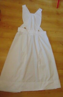 Ww1 Ww2 Nurse Style Full Bib Apron Plain No Red Cross Size And Length Choice