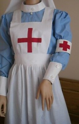 Ww1 Ww2 Style Field  Nurse Costume Apron And Arm Band Only  Vintage  Style