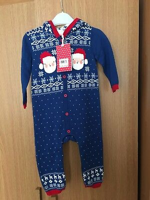 Boots Mini Club Baby Boys Christmas Baby grow Aged 6-9 Months New