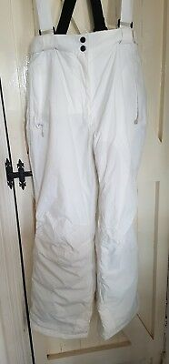 Dare2B White, Unworn, With Tags, Size 16 - Ladies Salopettes/ski Trousers, Vgc