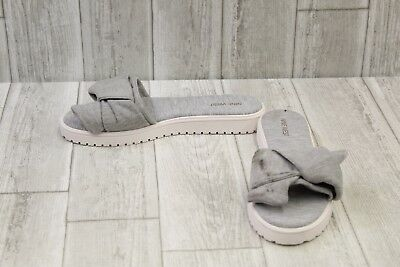 56476c830 NINE WEST RUTH Slide Sandals - Women s Size 9M - Gray White -  18.87 ...